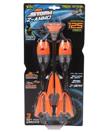 Zin Air Storm Z-Ammo Refills Pack Of 3 Orange - Length 24.5 cm