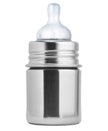 Pura Stainless Steel Feeding Bottle Silver - 147 ml