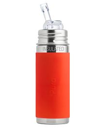 Pura Straw Vacuum Insulated Bottle Orange - 265 ml