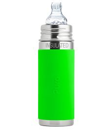 Pura Vacuum Insulated Sippy Cup Feeding Bottle Green - 260 ml