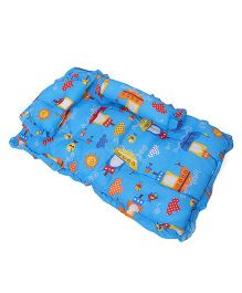 Baby Bedding With Bolster And Pillow Fish Print - Blue