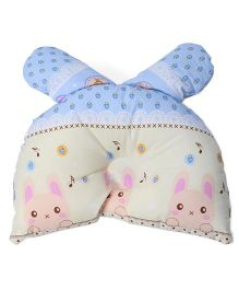 Baby Pillow Rabbit & Strawberry Print - Blue