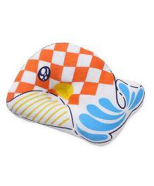 Baby Pillow Fish  Print - Orange White