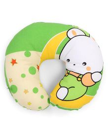 Neck Support Pillow Teddy Print - Green