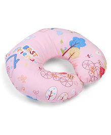 Neck Support Pillow Best Friend Print - Pink