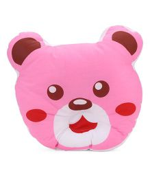 Bear Face Baby Pillow - Pink