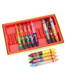 Camel Bi-Colour Crayon 24 Shades - Multi Color