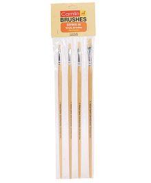 Kokuyo Camlin Series White Bristle Brush 56 - Set Of 4