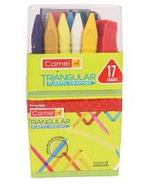 Camel Triangular Plastic Crayon Multi Color - 17 Shades