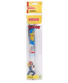 Kokuyo Camlin Speedy Pen Pencil Pikachu Print - Blue White