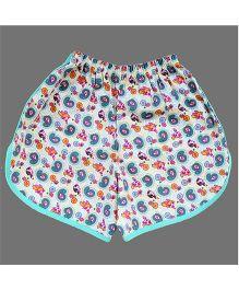 De-Nap Paisley Printed Dolphin Shorts - Multicolour