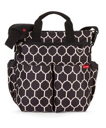 Skip Hop Duo Signature Diaper Bag With Portable Changing Mat Onyx Tile Design - Brown