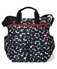 Skip Hop Duo Signature Diaper Bag Cubes Design - Black White