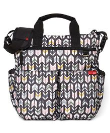 Skip Hop Duo Signature Diaper Bag With Portable Changing Mat Arrow Design - Multi Color
