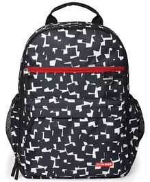 Skip Hop Duo Signature Diaper Backpack Cubes Design - Black White