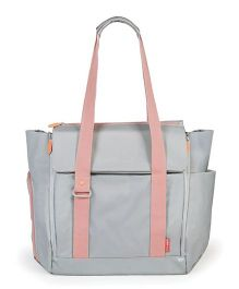 Skip Hop Fit All Access Diaper Tote Bag - Grey Pink