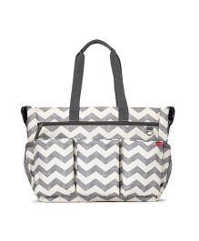 Skip Hop Duo Double Signature Diaper Bag - Grey White