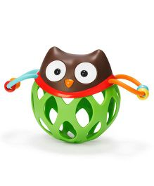 Skip Hop Explore And More Roll Around Owl Rattle Toy - Green