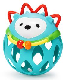 Skip Hop Explore And More Roll Around Hedgehog Rattle Toy - Blue