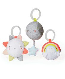 Skip Hop Silver Lining Cloud Ball Trip Activity Toys Pack Of 3 - Multicolor