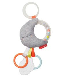 Skip Hop Silver Lining Cloud Rattle Moon Stroller Toy - Multicolor