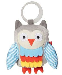 Skip Hop Treetop Wise Owl Stroller Clip  On Toy - Grey Blue