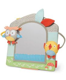 Skip Hop Treetop Friends Activity Mirror Toy - Grey Pastel