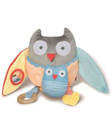 Skip Hop Treetop Friends Hug And Hide Activity Owl Clip On Toy - Multi Color
