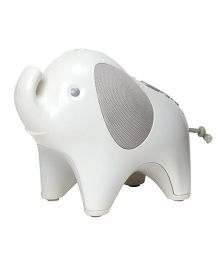 Skip Hop Moonlight and Melodies Nightlight Soother Elephant Design - Grey White