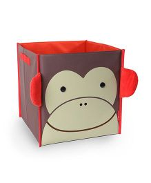 Skip Hop Zoo Large Storage Bin Marshall Monkey - Brown & Red