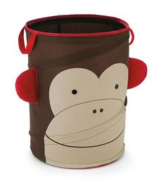Skip Hop Zoo Pop-Up Hamper Storage Bag Marshall Monkey - Brown