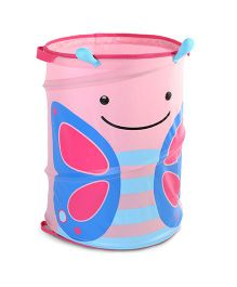 Skip Hop Zoo Pop-Up Hamper Storage Bag Blossom Butterfly - Pink