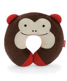 Skip Hop Zoo Travel Neck Rest Pillow Monkey Design - Brown