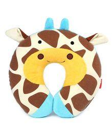 Skip Hop Zoo Travel Neck Rest Pillow Giraffe Design - Brown Yellow