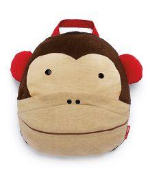 Skip Hop Zoo Multi-Purpose Travel Blanket Monkey Design - Brown Cream