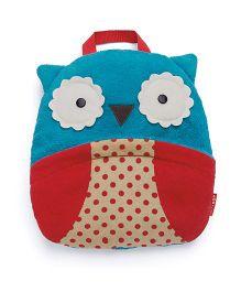 Skip Hop Zoo Multi-Purpose Travel Blanket Owl Design - Blue Red