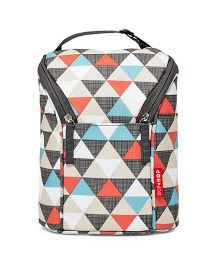 Skip Hop Grab and Go Double Bottle Bag Triangles Design - Multi Color