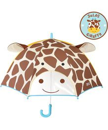 Skip Hop Little Kid And Toddler Umbrella Zoo Giraffe Design - Brown