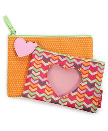 Skip Hop Forget Me Not Heart Design Pouches Set Of 2 - Multi Color