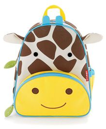 Skip Hop Backpack Giraffe Design Brown White Yellow - 12 inches