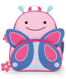 Skiphop School Bag Butterfly Design Pink Blue - 12 inches