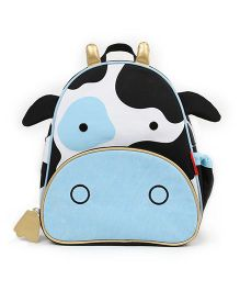 Skip Hop Backpack Cheddar Cow Design Blue Black White - 12 inches