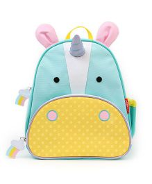Skiphop School Bag Unicorn Design Sea Green Yellow - 12 inches