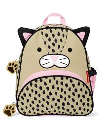 Skip Hop Backpack Leopard Design Beige & Black - 12 inches