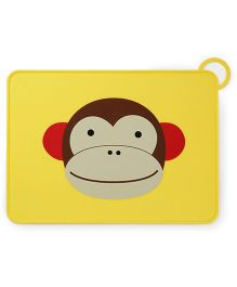 Skip Hop Baby Zoo Fold-and-Go Silicone Placemat Marshall Monkey Design - Yellow