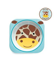 Skip Hop Melamine Bowl Giraffe Design - Blue Brown
