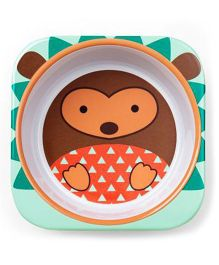 Skip Hop Melamine Bowl Hedgehog Design - Green Brown