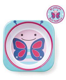 Skip Hop Melamine Bowl Butterfly Design - Pink Blue