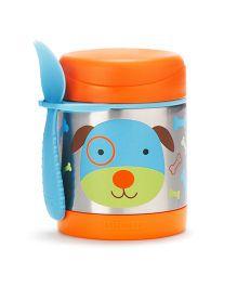 Skip hop Insulated Food Jar and Spork Set Darby Dog - Orange
