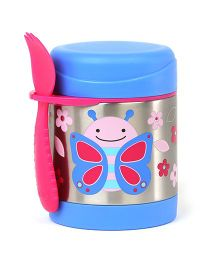 Skip Hop Insulated Food Jar And Fork Set Butterfly Print - Blue Pink